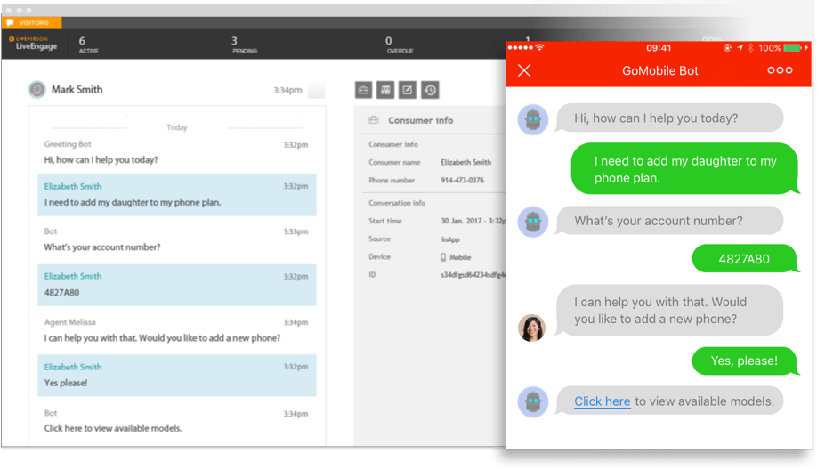 Chatbots for customer care and sales | LivePerson
